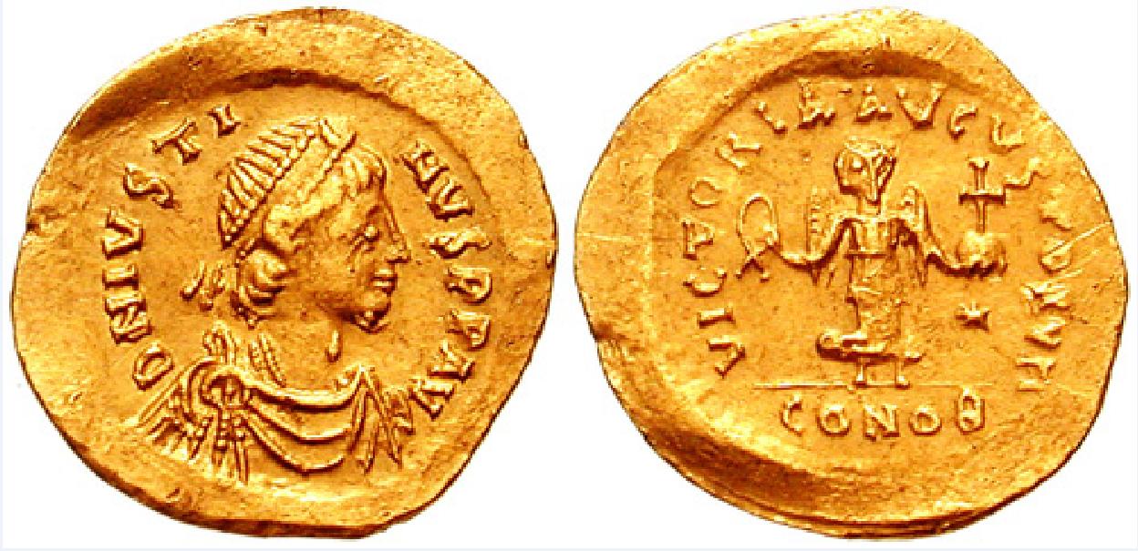 Ο Φλάβιος Ιουστίνιος Αύγουστος ή Ιουστίνος Α΄ (2 Φεβρουαρίου 450 - 1 Αυγούστου 527) ήταν Βυζαντινός αυτοκράτορας από το 518 έως το 527. Ανήλθε μέσα από τις τάξεις του στρατού και τελικά έγινε αυτοκράτορας, παρά το γεγονός ότι ήταν αναλφάβητος και σχεδόν 70 ετών.