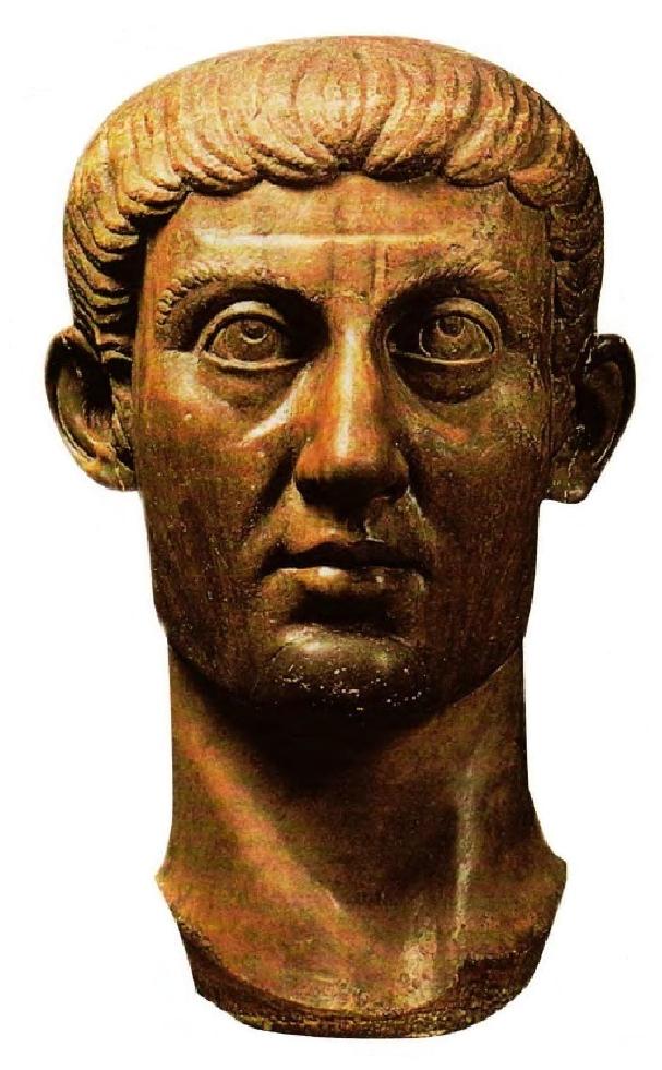 Ο Μέγας Κωνσταντίνος, μαρμάρινη προτομή. The Great Constantine, a marble bust