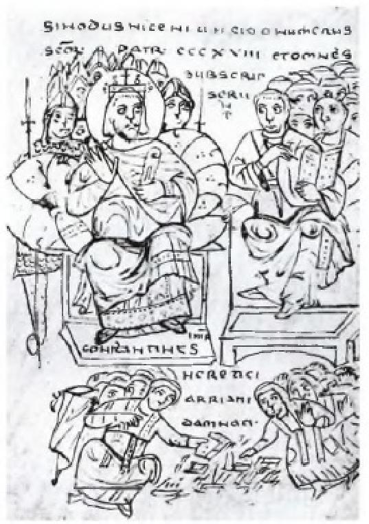 Ο αυτοκράτορας Μέγας Κωνσταντίνος στη σύνοδο της Νίκαιας