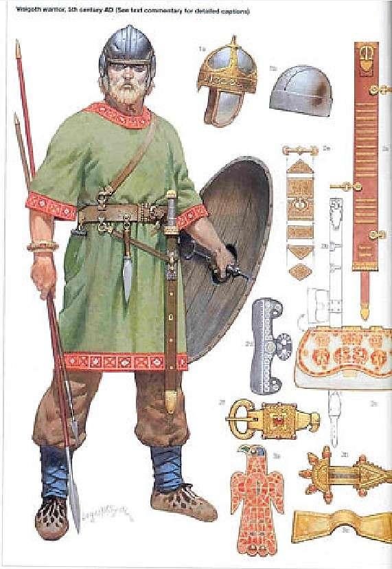 Οστρογότθος πολεμιστής. Ostrogoth warrior.