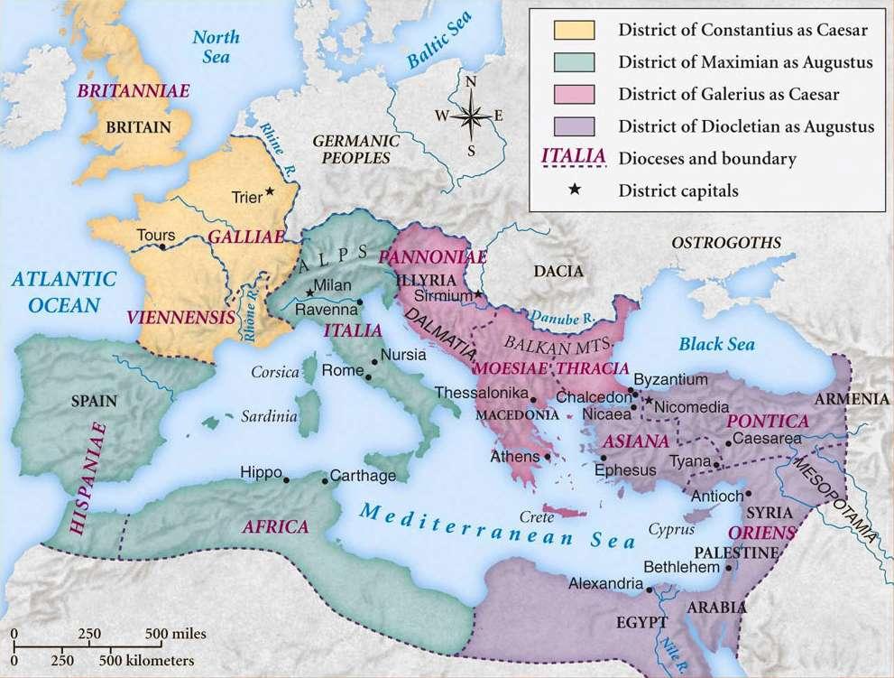 Χάρτης της ρωμαίικής αυτοκρατορίας. The Roman World Monarchy Republic Empire And Collapse