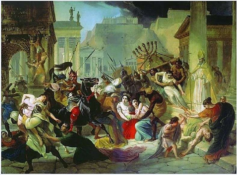 Το 455 μ.Χ οι Βάνδαλοι λεηλάτησαν τη Ρώμη