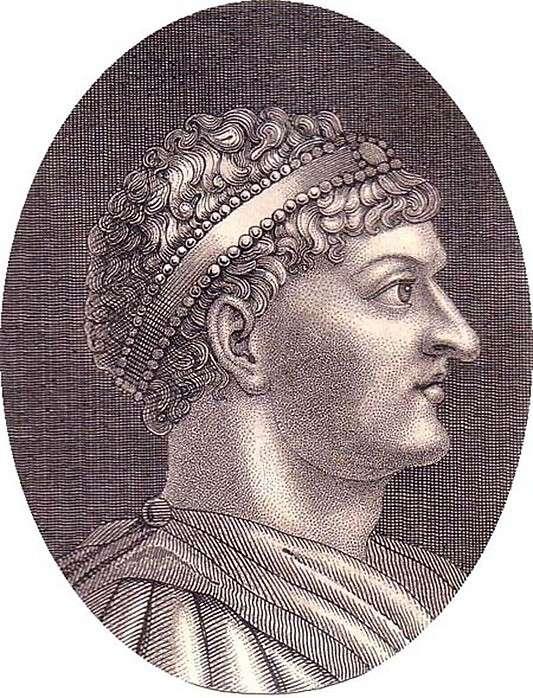 Ο αυτοκράτορας Θεοδόσιος σε σύγχρονο αργυρό δίσκο (Βασιλική Ακαδημία Επιστημών, Μαδρίτη). The Emperor Theodosius on a Modern Silver Disc (Royal Academy of Sciences, Madrid)