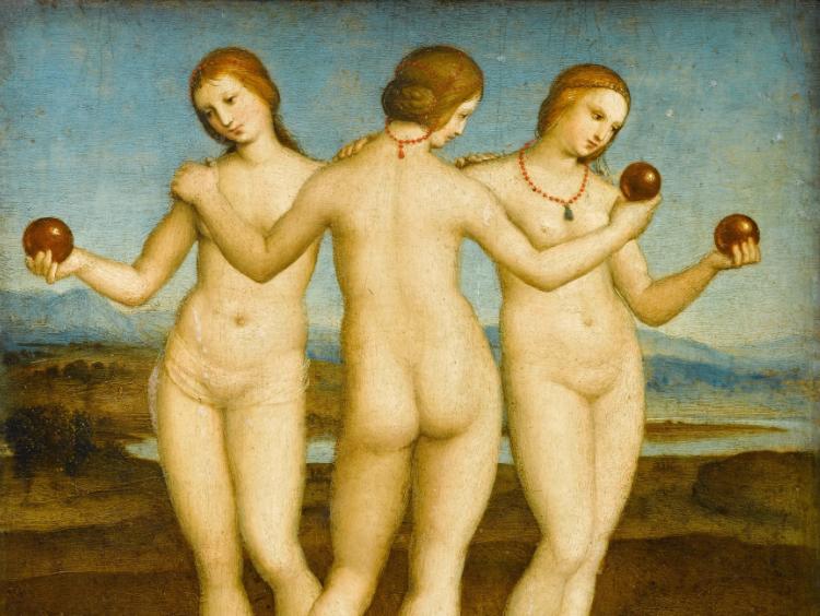 Οι τρεις Χάριτες, 1504, Chantilly, Μουσείο Κοντέ