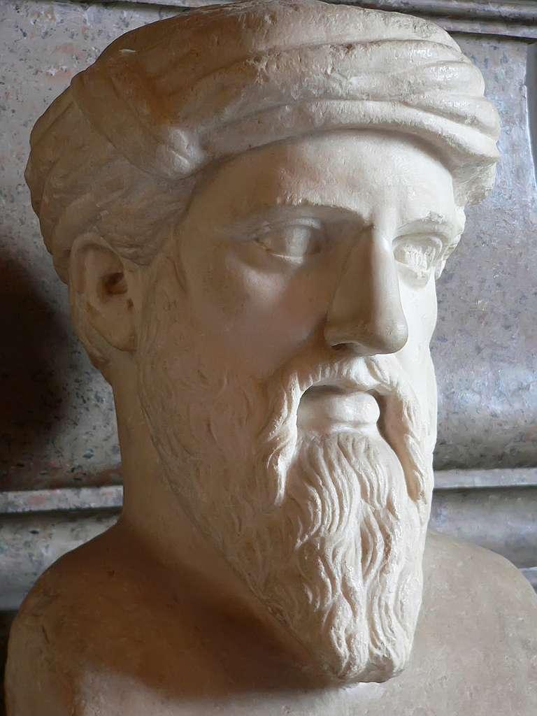 Ο Πυθαγόρας ο Σάμιος (580 π.Χ. - 496 π.Χ.) ήταν σημαντικός Έλληνας φιλόσοφος, μαθηματικός, γεωμέτρης και θεωρητικός της μουσικής.