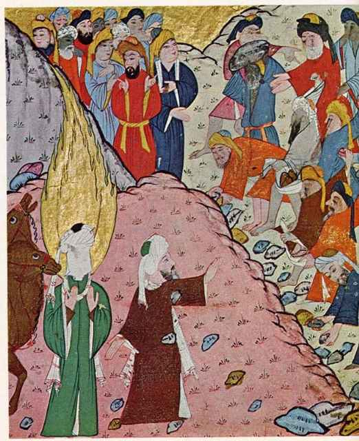 Ο Αμπού Μπακρ προστατεύει τον Μωάμεθ (η παρουσία με τη χρυσή φλόγα)