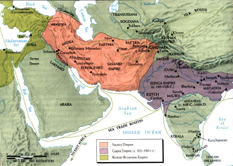 Η αυτοκρατορία των Σασσανιδών και η αυτοκρατορία των Ινδών Γκούπτα (320-550)