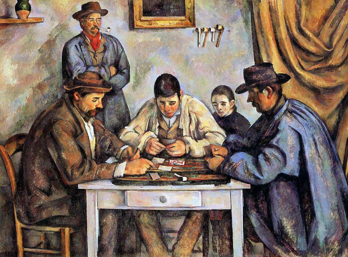 Πωλ Σεζάν, Οι χαρτοπαίχτες. 1892–1893. Νέα Υόρκη, Μητροπολιτικό Μουσείο