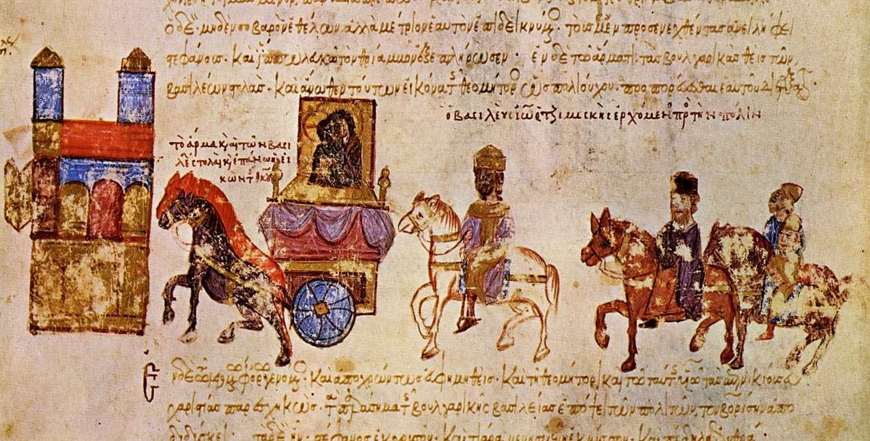 Ο Ιωάννης Τσιμισκής επιστρέφει θριαμβευτής στην Κωνσταντινούπολη με τον αιχμαλωτισμένο Βόρι και εικόνες από την Πρεσλάβα.