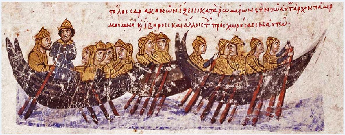 Άραβες του 7ου αιώνα μ. . Απεικόνιση σε βυζαντινό χειρόγραφο