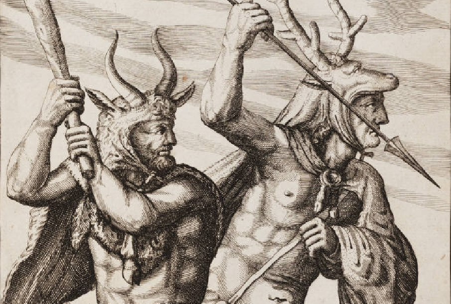 Αρχαίοι Γερμανοί πολεμιστές από τη σειρά χαλκογραφιών Germania Antiqua - Φίλιπ Κλίβερ, 1616.