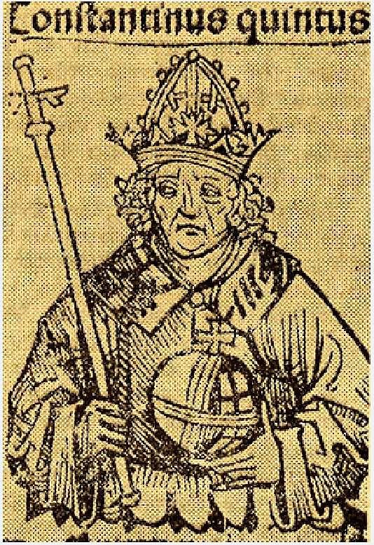 Ο Κωνσταντίνος Ε΄ (Ιούλιος 718 - 14 Σεπτεμβρίου 775) ήταν Βυζαντινός αυτοκράτορας. Βασίλευσε μεταξύ 741 και 775. Επονομάστηκε υβριστικά από τους αντιπάλους του εικονόφιλους Κοπρώνυμος, με την εξήγηση ότι κατά το βάπτισμά του ρύπανε την κολυμβήθρα.