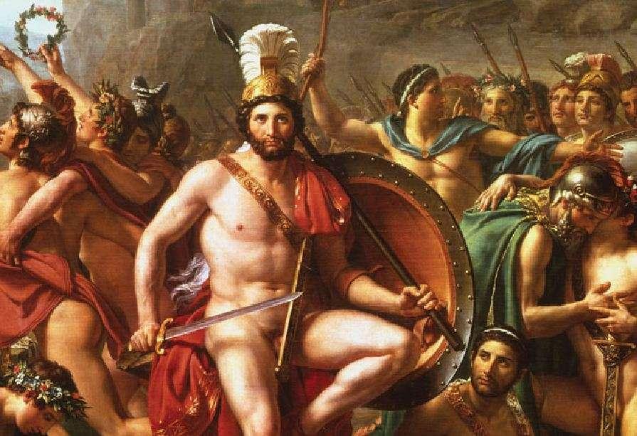 Ο βασιλιάς της Σπάρτης Λεωνίδας στη μάχη των Θερμοπυλών. Leonidas at Thermopylae by Jacques-Louis David.