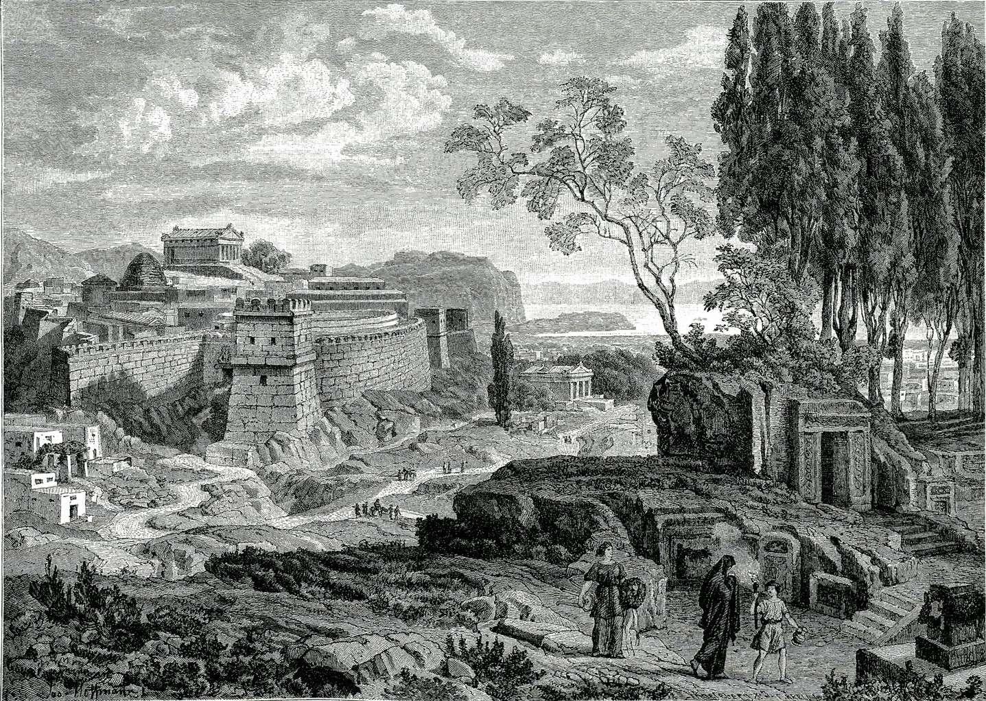 Αναπαράσταση των Μυκηνών κατά την αρχαιότητα, 19ος αιώνας