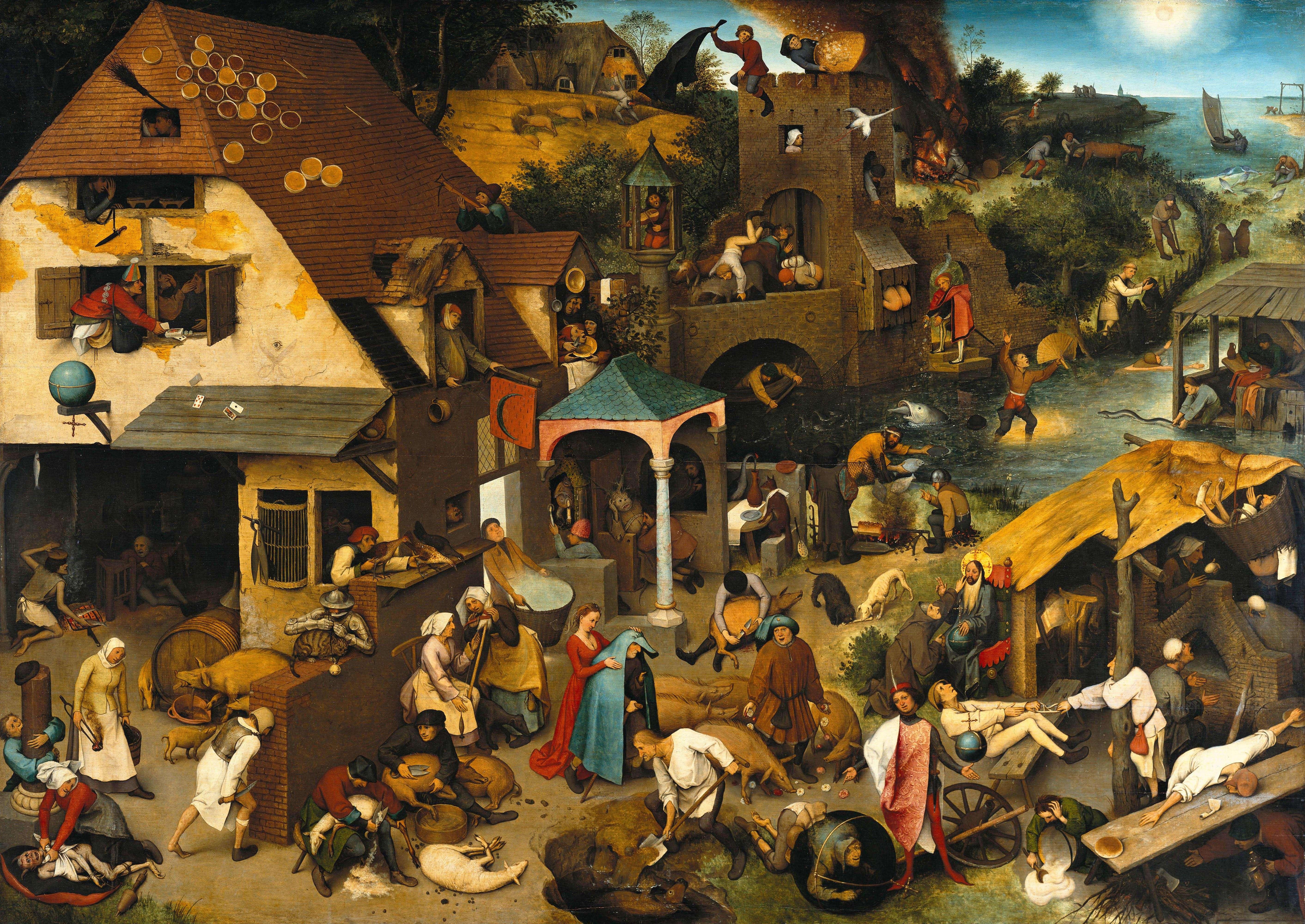 «Παροιμίες» Πίτερ Μπρίγκελ ή Μπρέγκελ ο πρεσβύτερος (φλαμανδικά: Pieter Bruegel, περ. 1525-1530 - Βρυξέλλες, 1569)