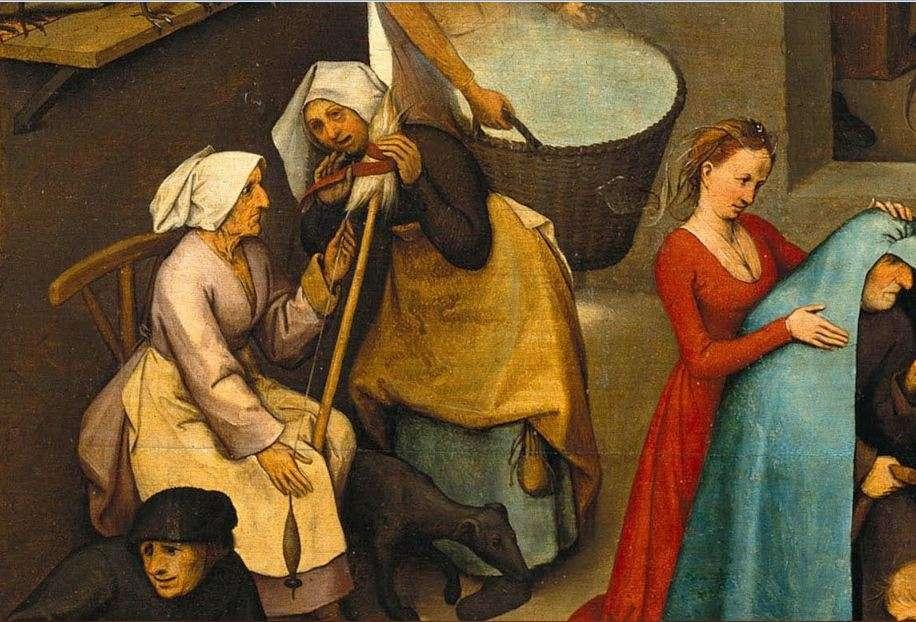 «Παροιμίες» (λεπτομέρεια) Πίτερ Μπρίγκελ ή Μπρέγκελ ο πρεσβύτερος (φλαμανδικά: Pieter Bruegel, περ. 1525-1530 - Βρυξέλλες, 1569)