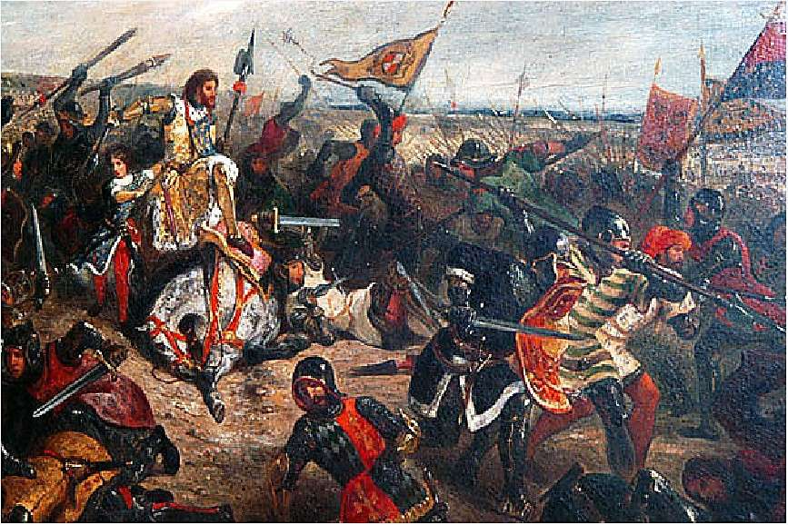 Η μάχη του Πουατιέ (732) ή μάχη της Τουρ (όπως είναι επίσης γνωστή)[6] ήταν μια μάχη μεταξύ των ενωμένων δυνάμεων των Φράγκων και των Βουργουνδών υπό την ηγεσία του Κάρολου Μαρτέλου ενάντια στους Άραβες υπό τον Αμπντούλ Ραχμάν Ιμπίν Αλ Γκαφίκι που ήδη είχαν προωθηθεί και καταλάβει την Ισπανία.