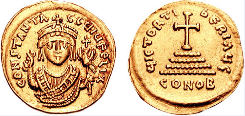 Ο Φλάβιος Τιβέριος Κωνσταντίνος (Flavius Tiberius Constantinus Augustus, 520 - 14 Αυγούστου 582) ήταν Βυζαντινός Αυτοκράτορας, ως Τιβέριος Β´, από το 574 μέχρι το 582. Χρυσό βυζαντινό νόμισμα