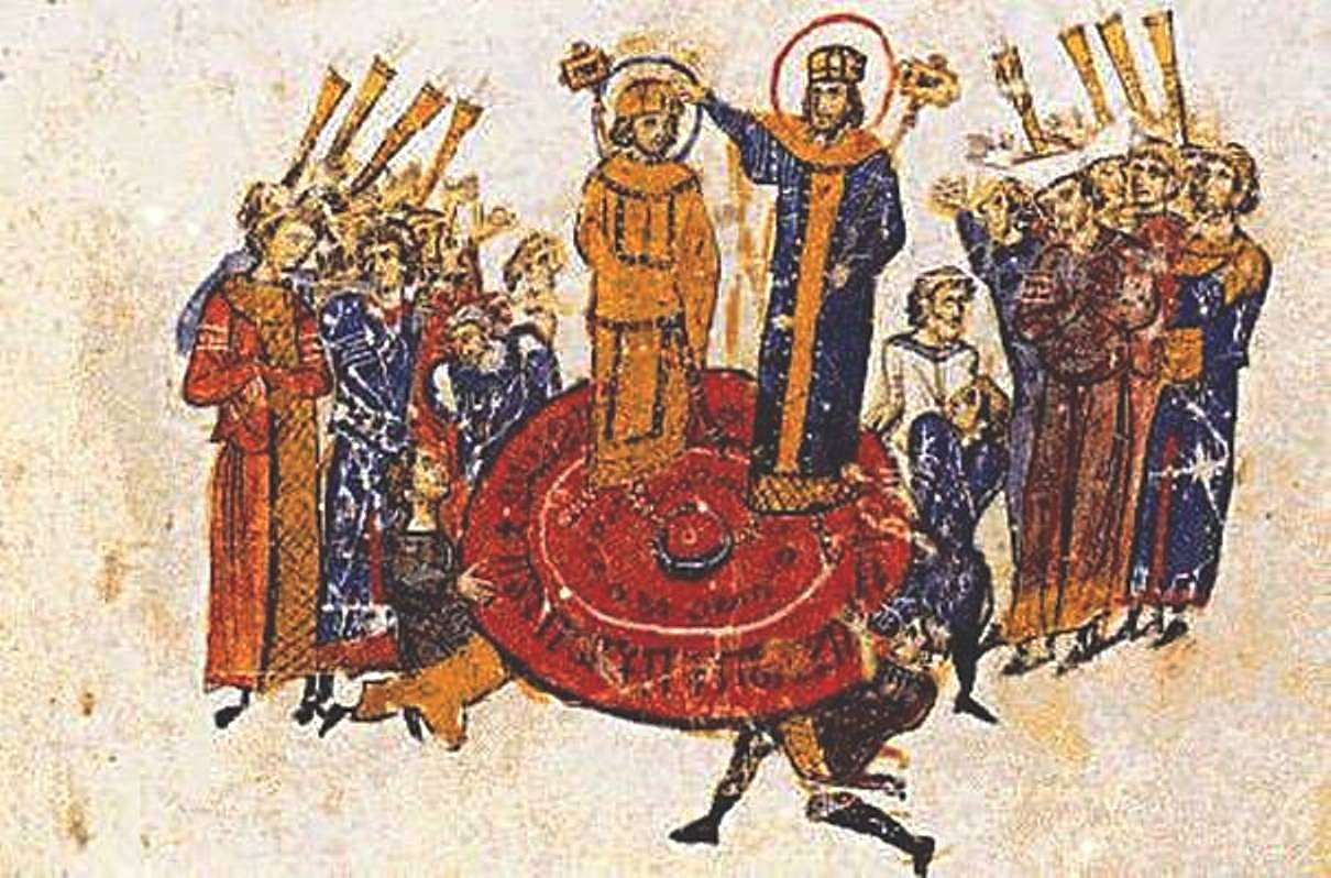 Την 5η Οκτωβρίου 610, ο Hράκλειος ανήλθε στον βυζαντινό θρόνο, όπου παρέμεινε ως το 641. Κατά την διάρκεια της βασιλείας του, ο Ηράκλειος ανέλαβε τον πόλεμο εναντίον των Περσών, που είχαν καταλάβει τους Αγίους Τόπους και είχαν κλέψει τον Τίμιο Σταυρό