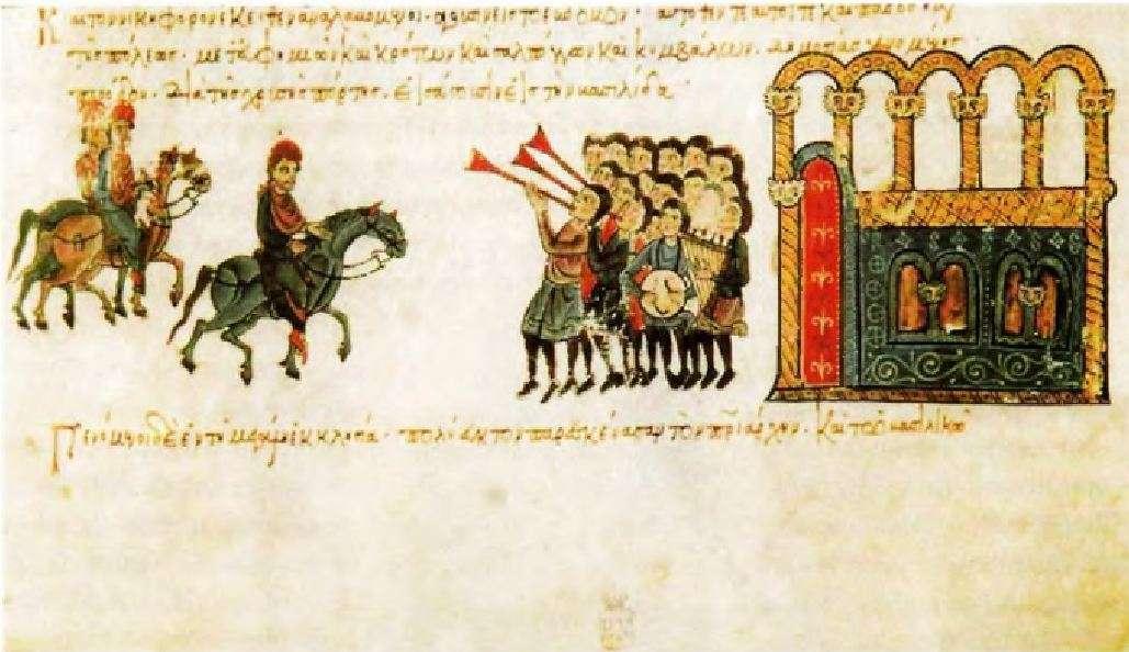 Λεπτομέρεια από βυζαντινό χειρόγραφο