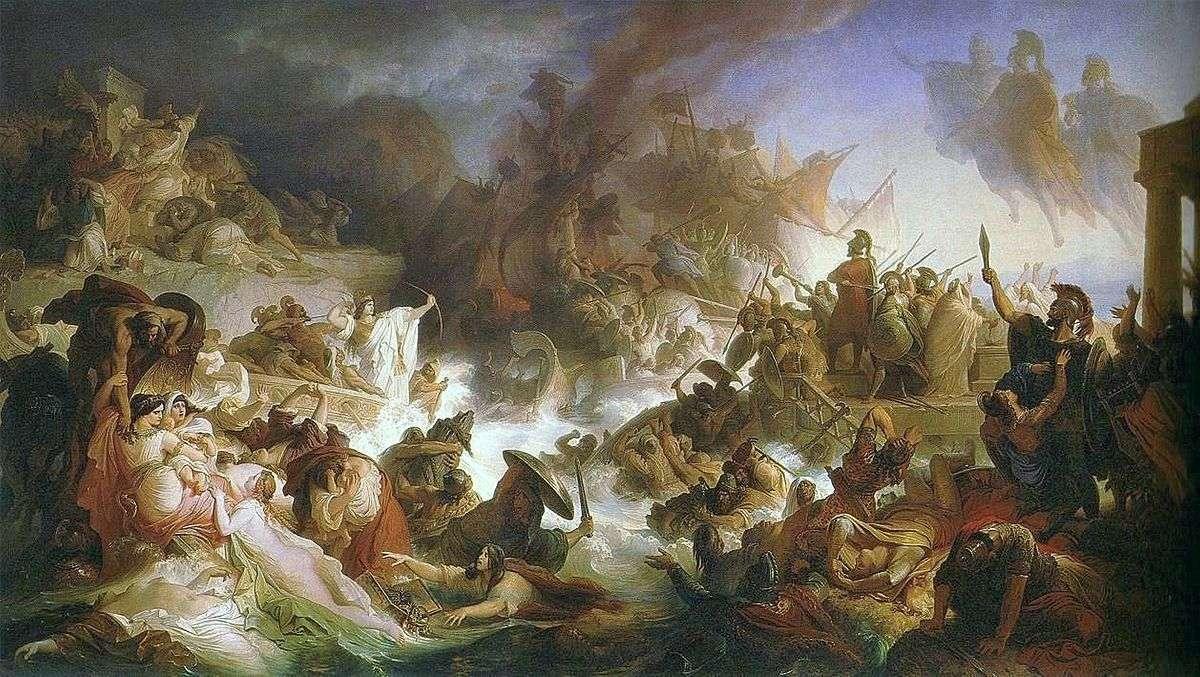 Wilhelm von Kaulbach – The battle of Salamis