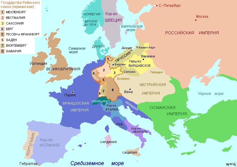 Χάρτης της Ευρώπης το 1812