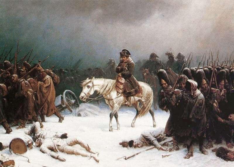 Υποχώρηση του Ναπολέοντα από τη Μόσχα. Έργο του Αντόλφ Νόρτεν