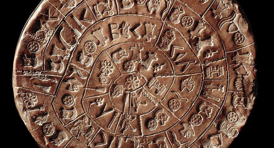 Ο Δίσκος της Φαιστού είναι ένα αρχαιολογικό εύρημα από τη Μινωική πόλη της Φαιστού στη νότια Κρήτη και χρονολογείται πιθανώς στον 17ο αιώνα π.Χ..