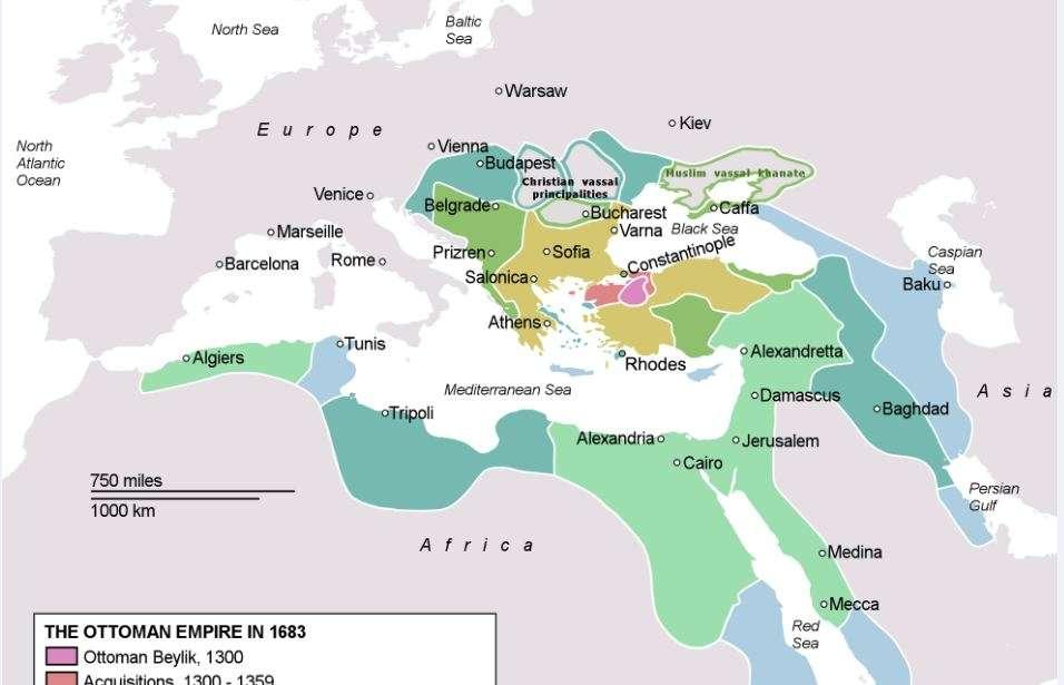 Η Οθωμανική Αυτοκρατορία στην ακμή της, το 1683