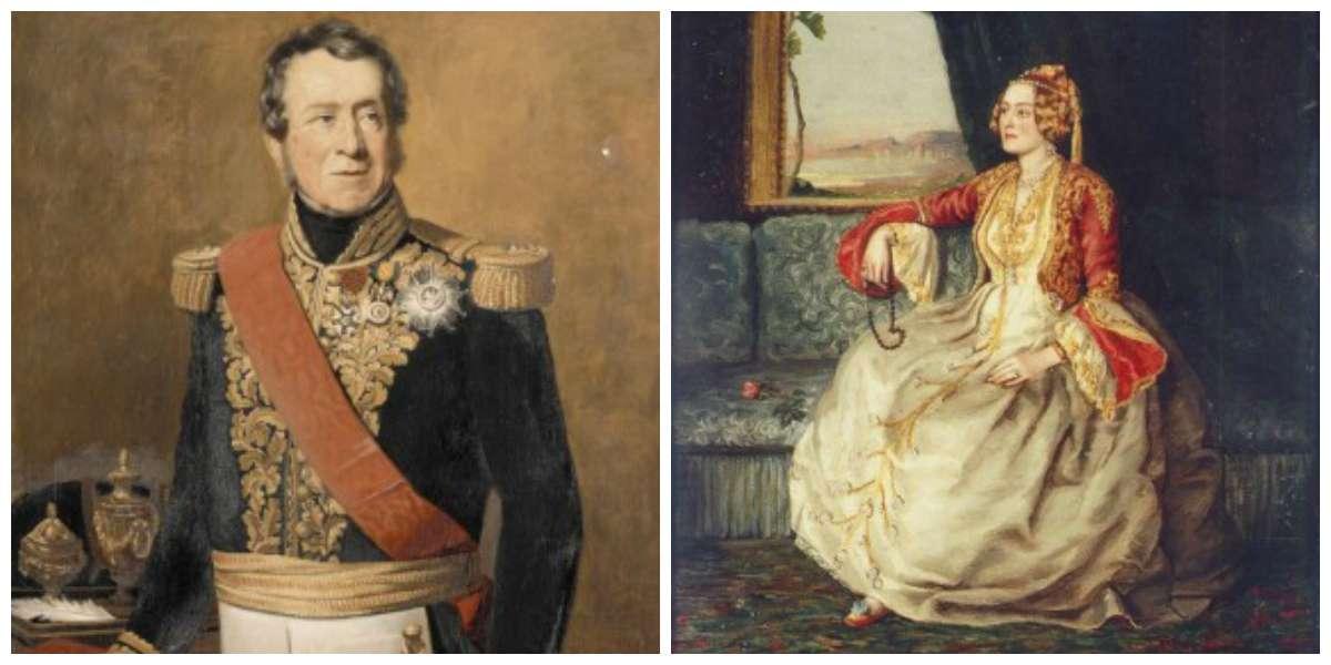Η Δούκισσα Σοφία Ντε Μπαρμπουά και ο σύζυγος της Κάρολος Λεμπρέν.