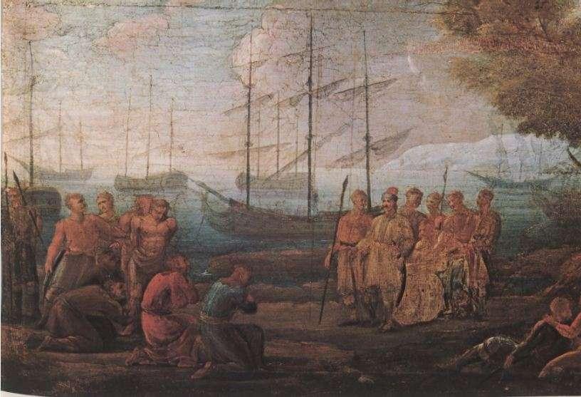 Υποταγή Τούρκων αιχμαλώτων στον Λάμπρο Κατσώνη, πίνακας της εποχής. Αθήνα, Εθνικό Ιστορικό Μουσείο