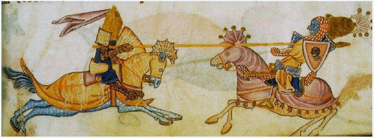 Ριχάρδος και Σαλαντίν (από μεσαιωνικό χειρόγραφο).