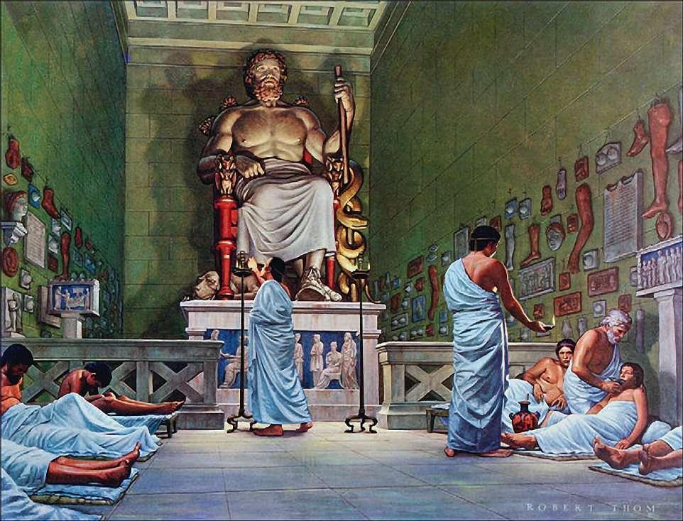 Πίνακας του Robert Thom· ο ναός του Ασκληπιού.