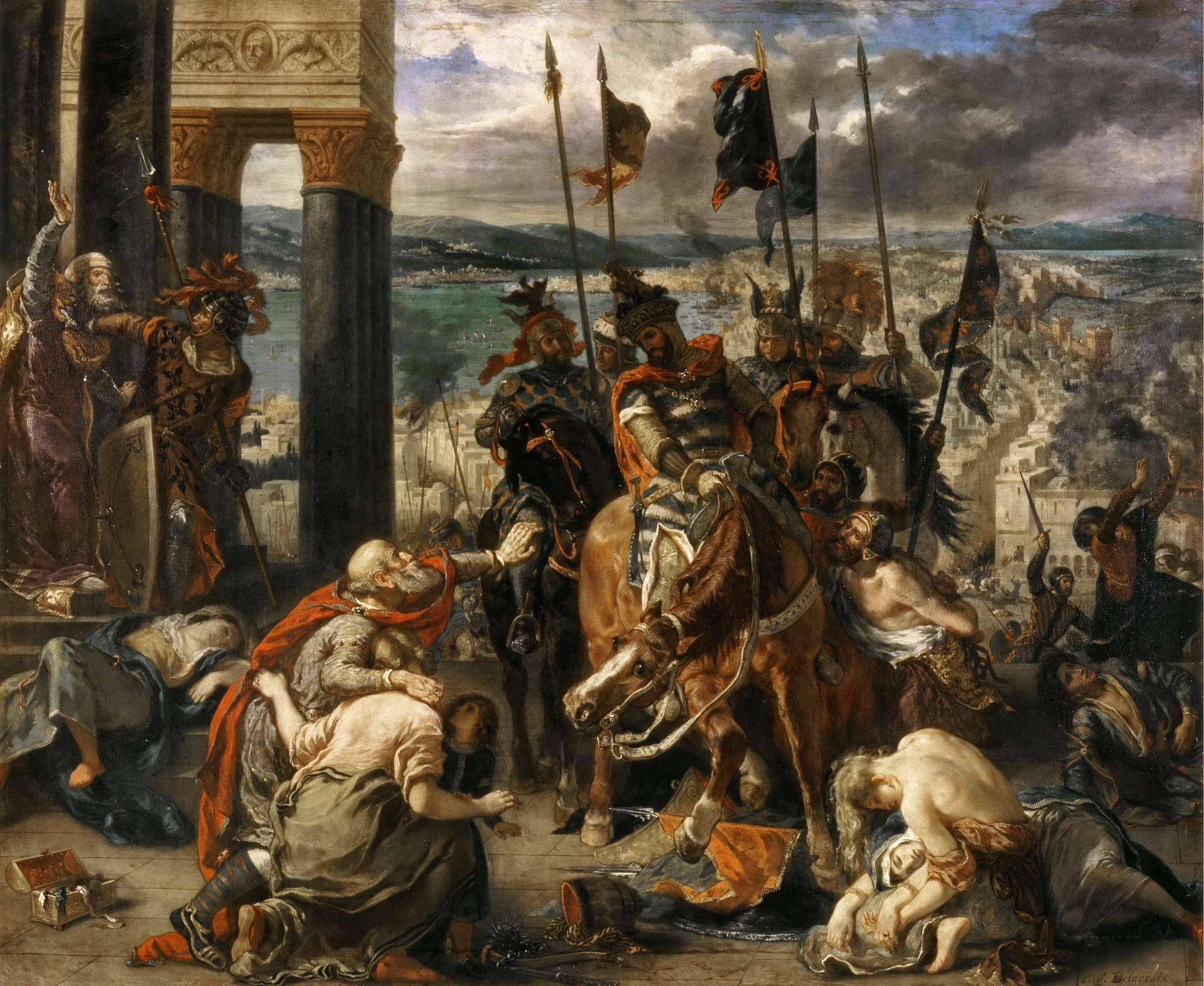 Η Άλωση της Κωνσταντινούπολης από τους Σταυροφόρους, έργο του Ντελακρουά.