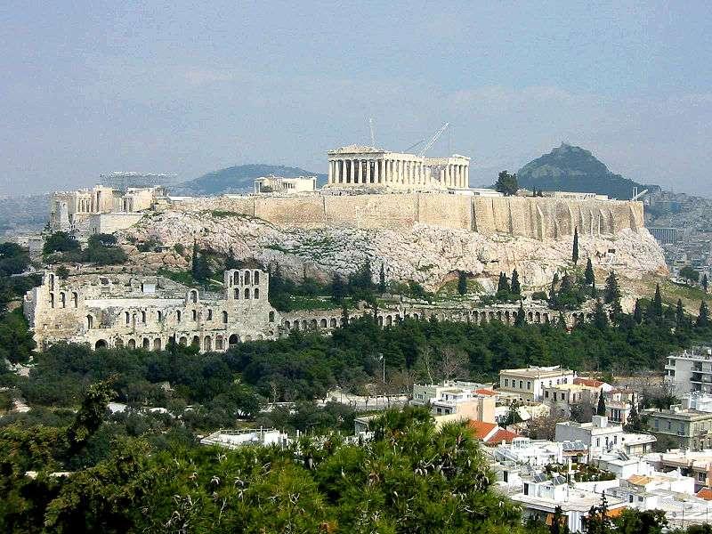 Η Ακρόπολη των Αθηνών, μεγάλο μέρος της οποίας αποπερατώθηκε την εποχή του Περικλή