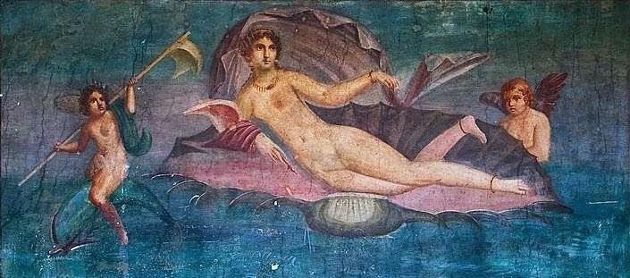 Τοιχογραφία Αναδυομένης στην Πομπηία (από το Pinterest)