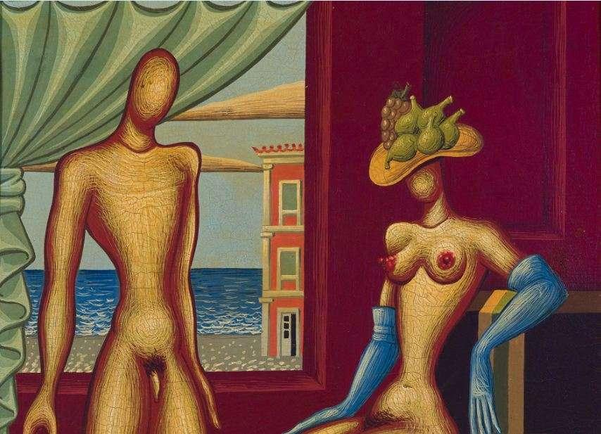 Νίκος Εγγονόπουλος. Γάμος, 1957, Αυγοτέμπερα σε ξύλο, 24,5 x 20 εκ., Ιδιωτική συλλογή.