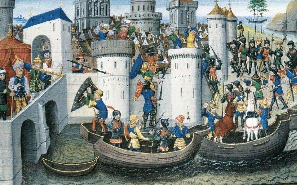 Η πολιορκία της Κωνσταντινούπολης από τους Σταυροφόρους (1204).