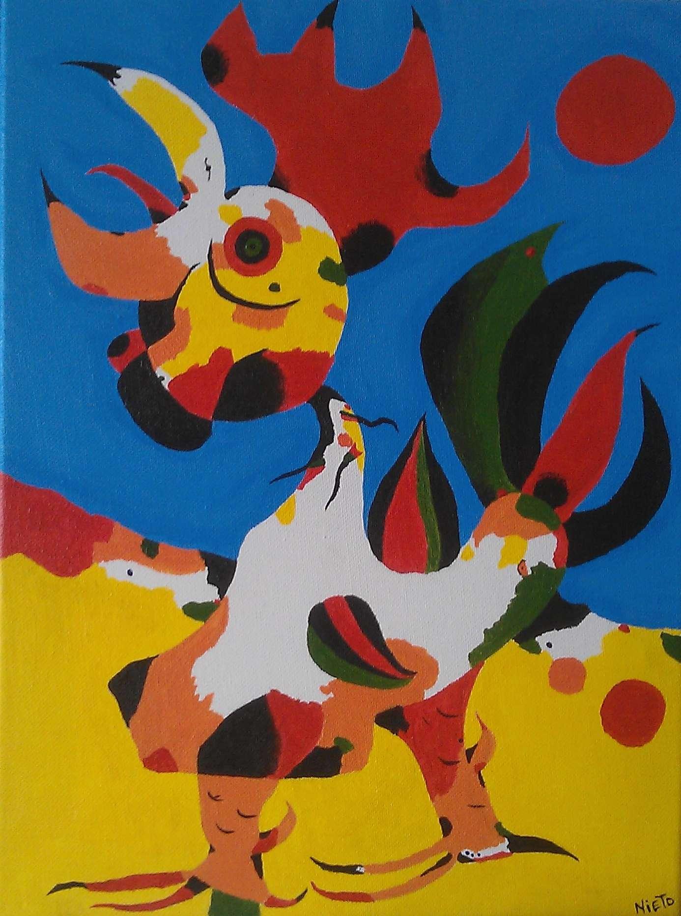 πίνακας του Zουάν Μιρό