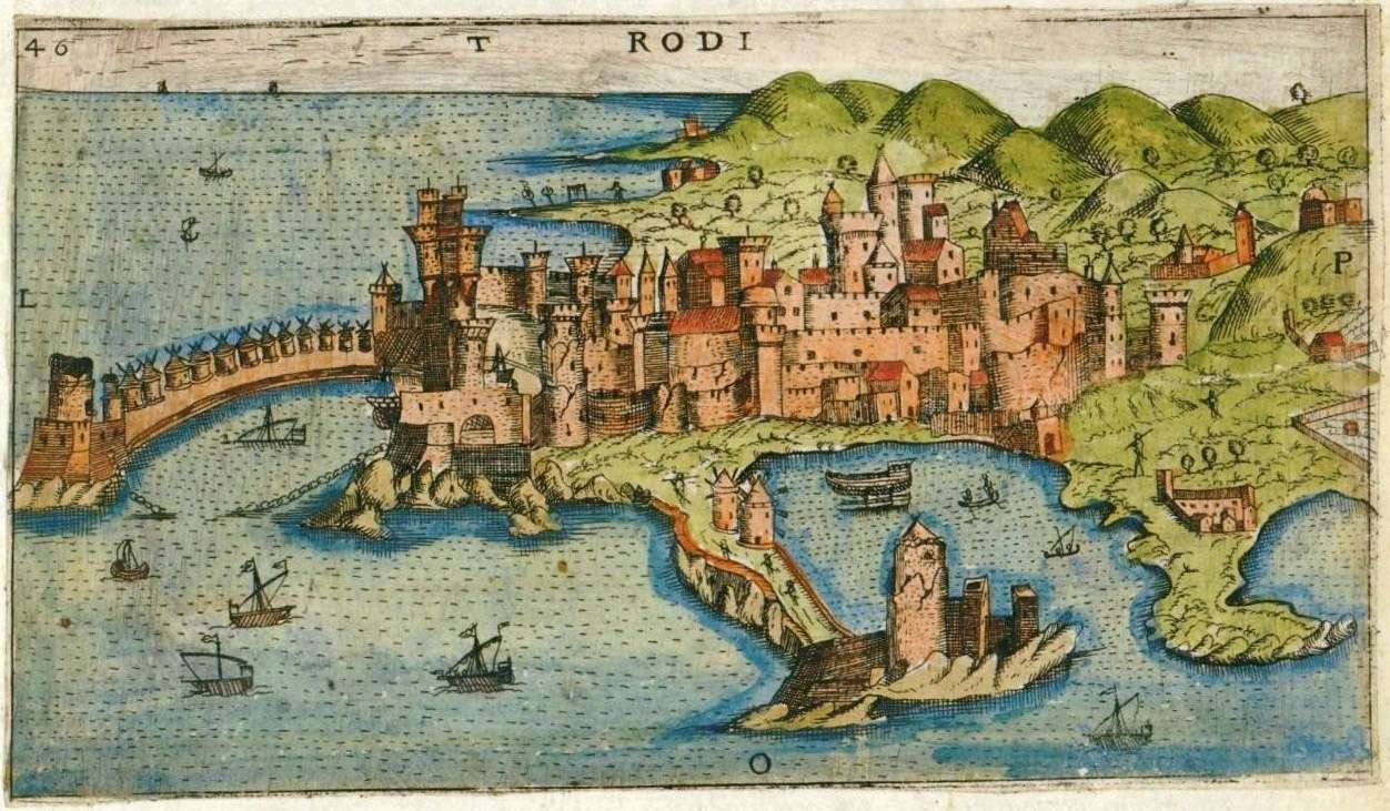 Η πόλη της Ρόδου την εποχή των Ιπποτών.