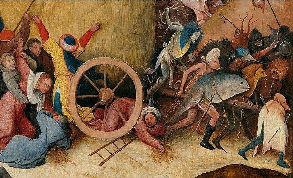 Ιερώνυμος Μπος (Hieronymus van Aken, περ. 1450 - 9 Αυγούστου 1516). Το κάρο με τον σανό (λεπτομέρεια), 1510-16, Μαδρίτη, Μουσείο του Πράδο.
