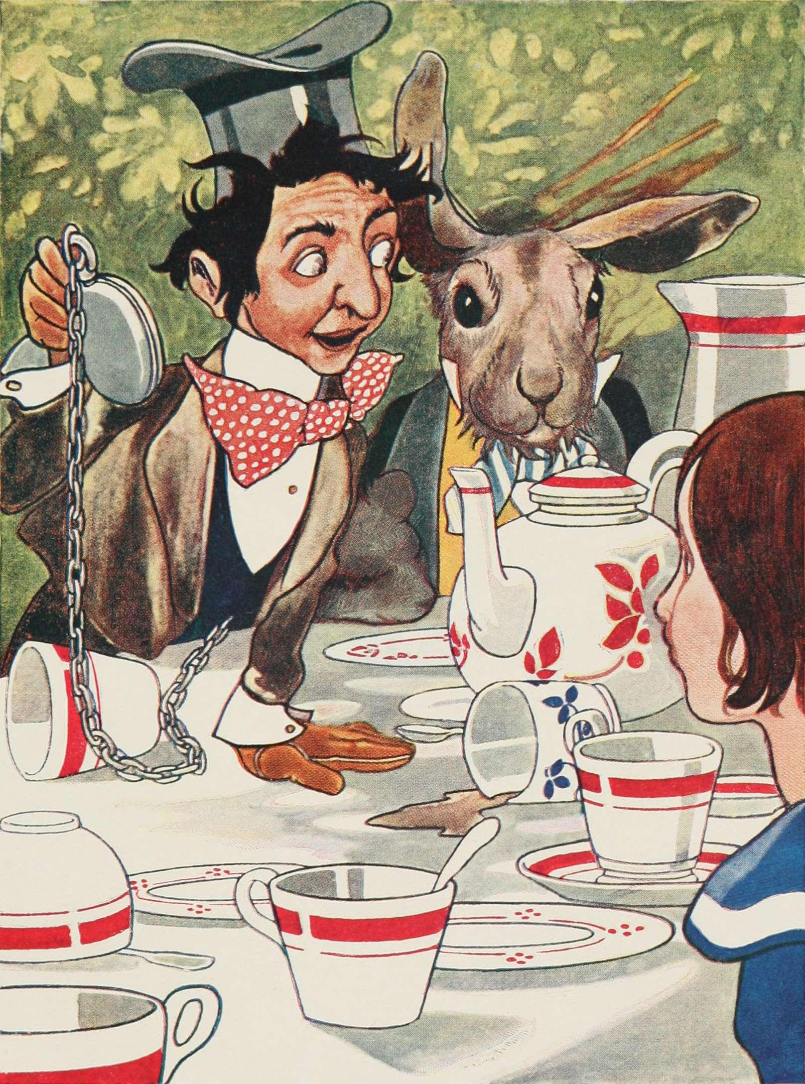Η Αλίκη στη χώρα των θαυμάτων. Mad tea party. Theophilus Carter has been suggested as a model for The Hatter