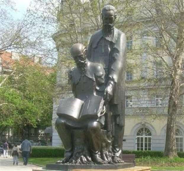 Το μνημείο των αγίων Κυρίλλου και Μεθοδίου στο Βελιγράδι.