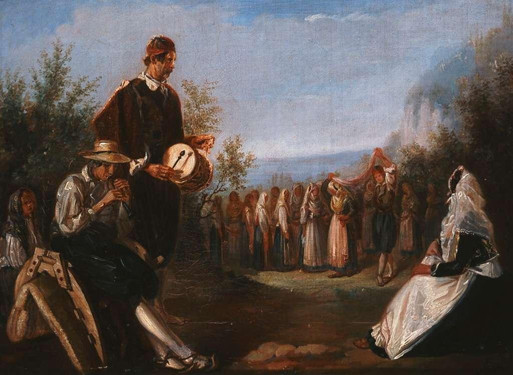 Διονύσιος Βέγιας (Κεφαλονιά 1810 – Κέρκυρα 1884) «Χορός στην Κέρκυρα».