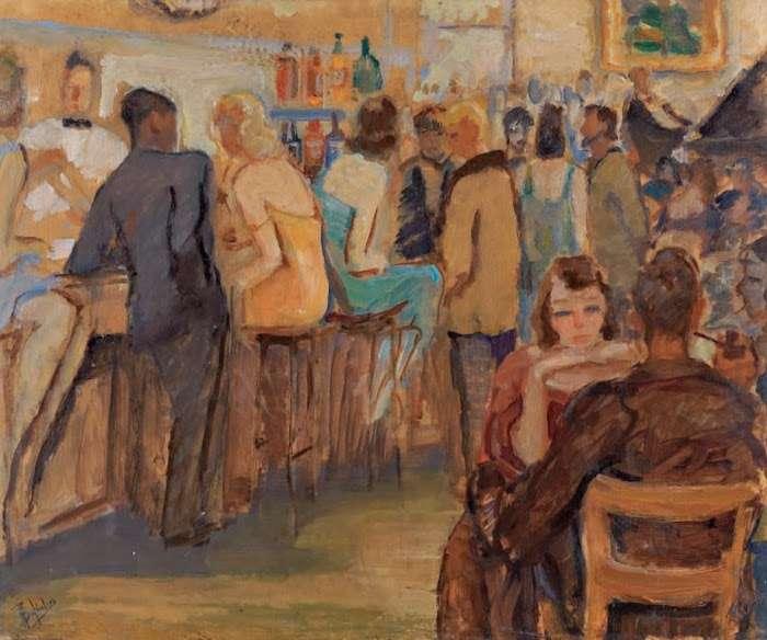 Περικλής Βυζάντιος (Αθήνα, 16 Ιανουαρίου 1893 – Αθήνα, 9 Φεβρουαρίου 1972). Μπιστρό.