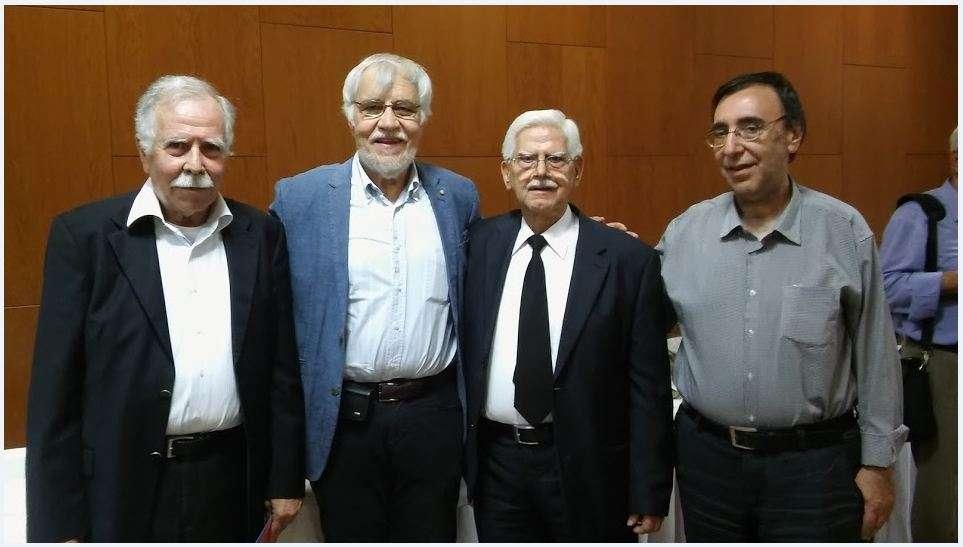 από αριστερά: Γκορτζής, Αικατερινάρης, Πνευματικός, Μαλαμίδης