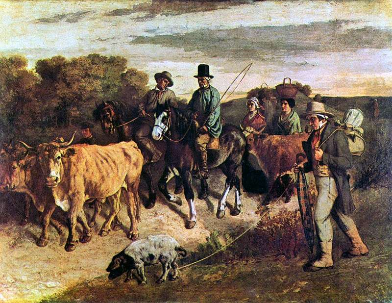 Αγρότες που επιστρέφουν από την αγορά, 1850. Γκυστάβ Κουρμπέ (γαλ. Jean Désiré Gustave Courbet, 10 Ιουνίου 1819 - 31 Δεκεμβρίου 1877).