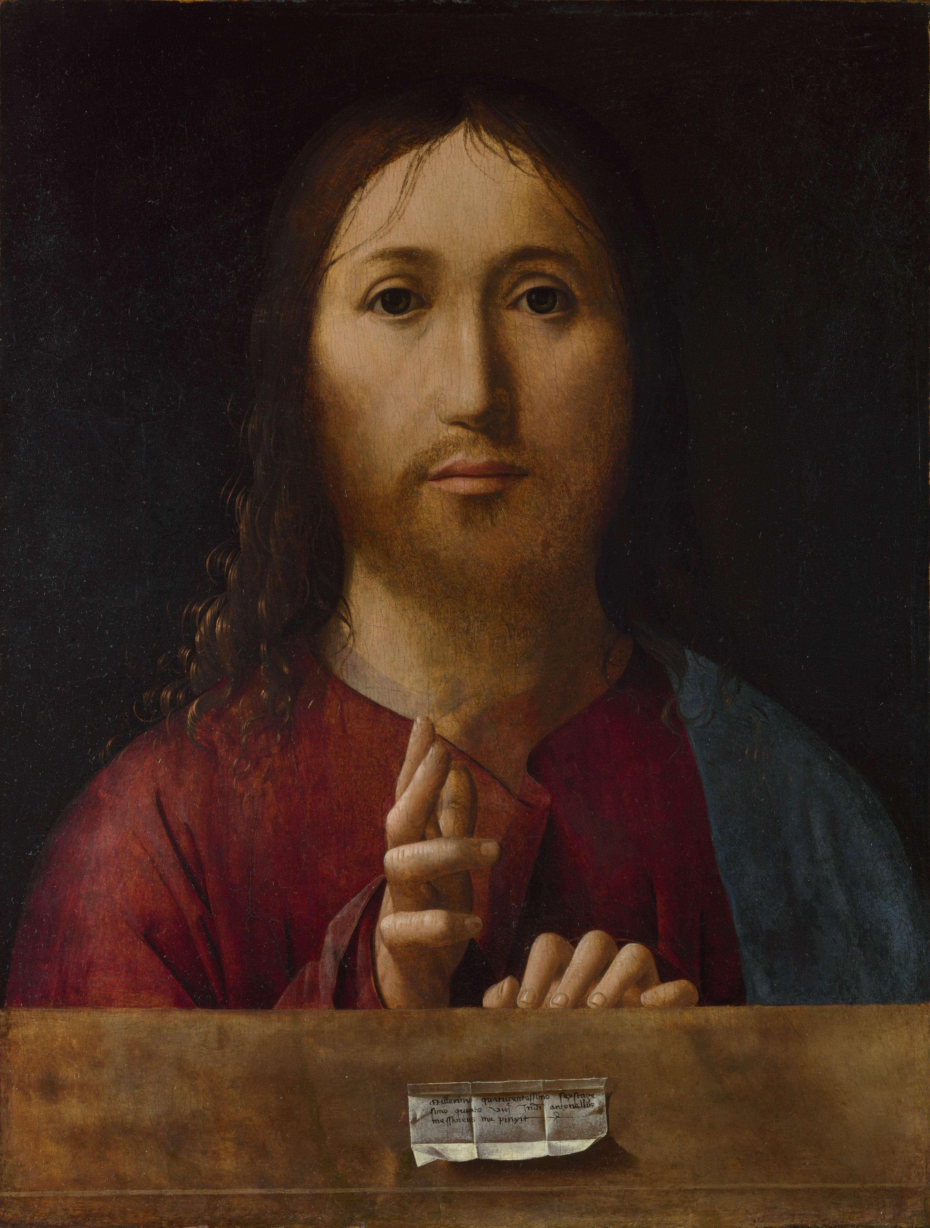 Salvator mundi - Ο Σωτήρας του Κόσμου, 1475, Λονδίνο, Εθνική Πινακοθήκη.