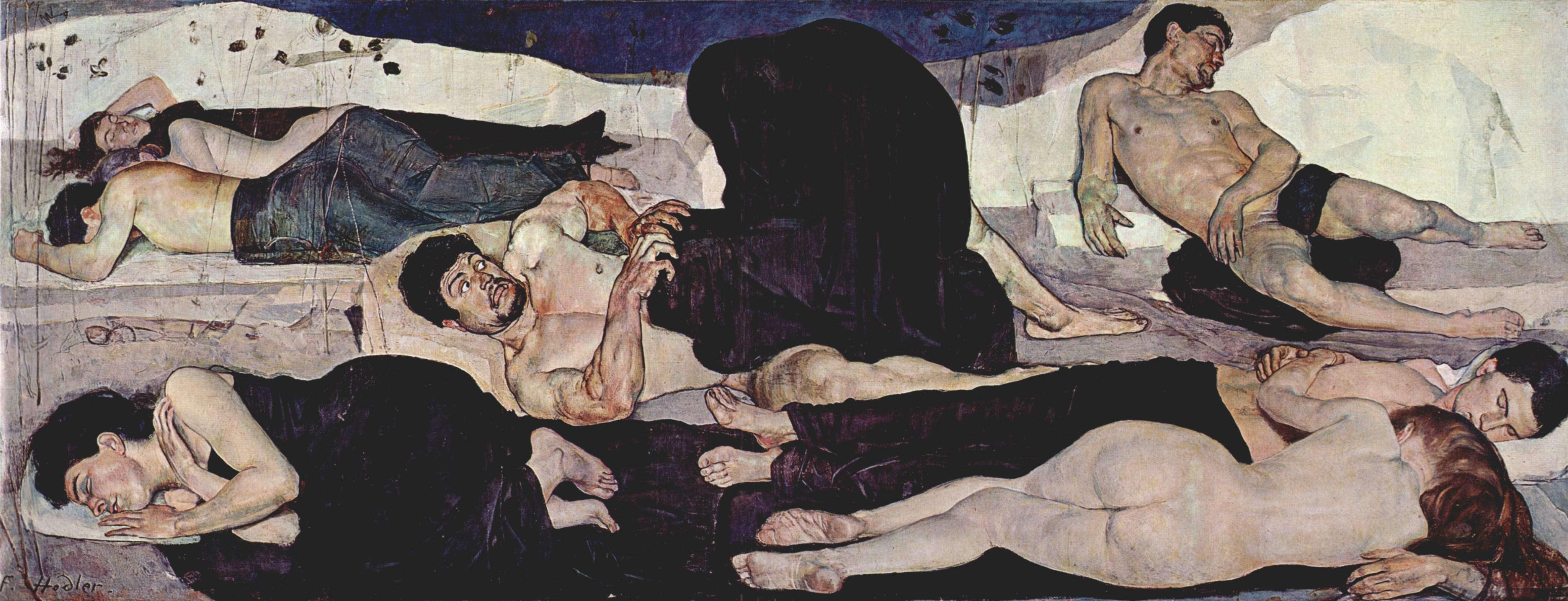Φέρντιναντ Χόντλερ (Ferdinand Hodler, Βέρνη, 14 Μαρτίου 1853 - Γενεύη, 19 Μαΐου 1918). Η Νύχτα,1890, Βέρνη, Kunstmuseum.