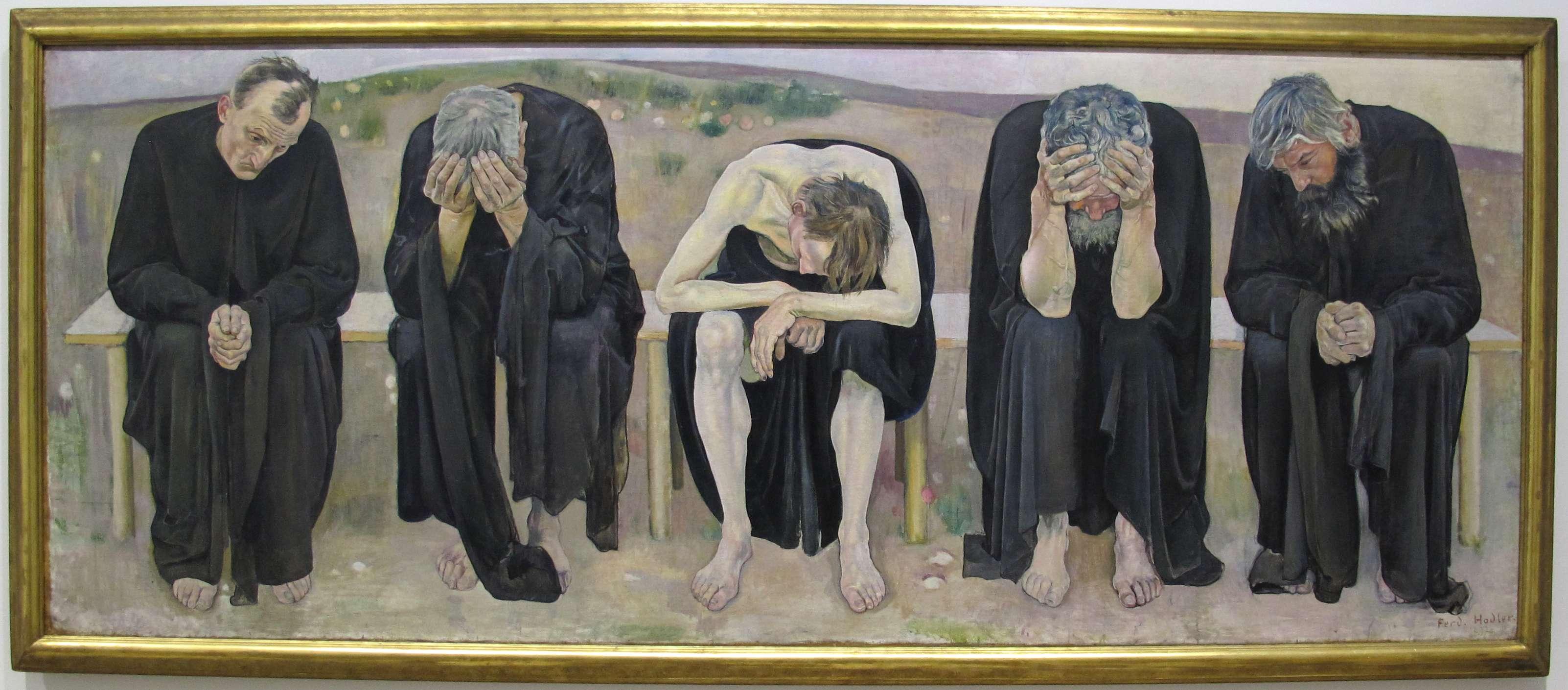 Φέρντιναντ Χόντλερ (Ferdinand Hodler, Βέρνη, 14 Μαρτίου 1853 - Γενεύη, 19 Μαΐου 1918). Οι απελπισμένες ψυχές, 1892, Βέρνη, Kunstmuseum.